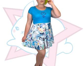 Sailor Mercury | Short Sleeve Skater Dress | Sailor Moon Manga