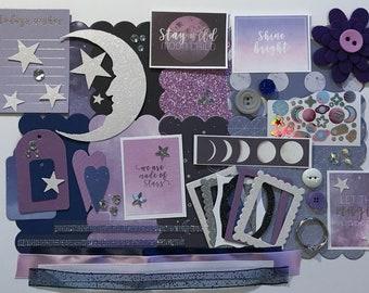 Astrology Zodiac Constellations Custom Chipboard Mini Book Album DIY Kit Scrapbooking