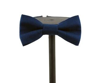 Navy Cotton Bow Tie   Groom   prom wear   bridal wear