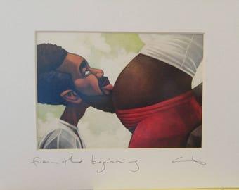 "Cbabi Bayoc: ""From the Beginning"" Matted Print"