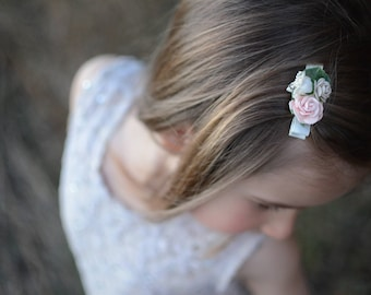 flower hair clip, baby hair clip, hair clip, baby clips, clips, baby hair accessories, girls hair clips, girls hair accessories, hair bows