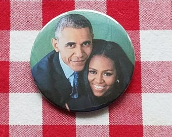 Barack & Michelle Obama FREE BUTTON when you order a magnet CHRISTMAS special