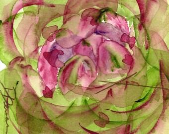 Moderne botanische kunst Print, grote artisjok aquarel Print, abstracte artisjok