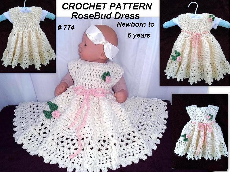 CROCHET PATTERN baby - Baby Girl Dress, crochet baby dress, kids and ...