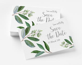 Save the Date - Natural Green