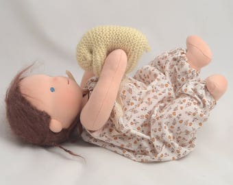 "Waldorf Baby doll 12"", waldorf doll. Waldorf toys, for sister, for brother, soft doll, gift for Christmas."