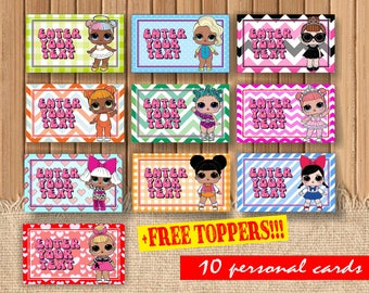 Digital Lol dolls personalized cards| printable Lol doll invitation|  Lol doll decor| Lol dolls children party| Lol surprise