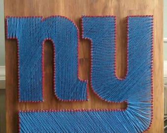NY Giants Nail String Art Sign