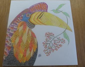 Toucan coloured by Annie (Millie Marotta)