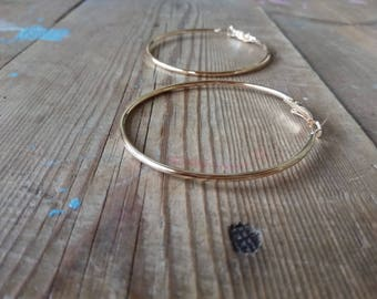 Thin gold hoops earrings, Large gold hoops, Big hoops, GOLD Thin earrings, Thin hoops, gold hoops, Large hoop, Big gold hoops, hoop earrings