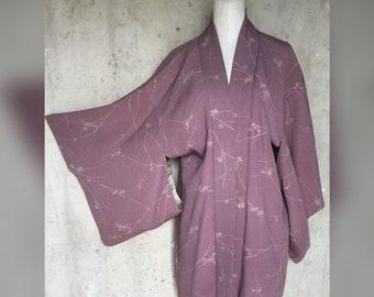 1970s Lilac Haori Kimono Jacket