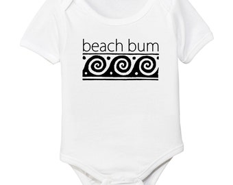 Beach Bum Organic Cotton Baby Bodysuit