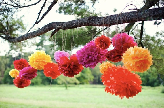 Tissue paper pom poms mexican party decorations mexican mightylinksfo
