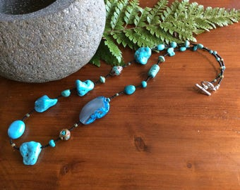 Turquoise and howlite beauty