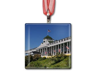 Grand Hotel on Mackinac Island - Handmade Glass Photo Ornament