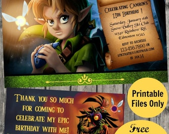 Legend of zelda birthday invitation majoras mask diy zelda invitation zelda printable invitation zelda birthday legend of zelda party stopboris Gallery