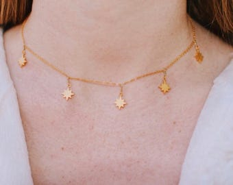North Star Dangle Necklace
