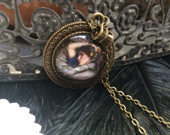 Necklace with girl picture