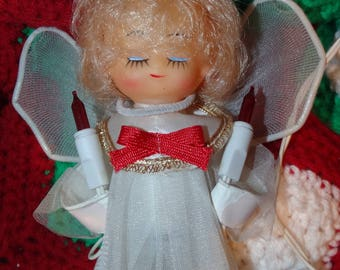 Angel Tree Topper, Lighted Blond Christmas Angel Tree Topper, Holiday Tree Decoration, Angel Wire Lighted Tree Topper, Christmas