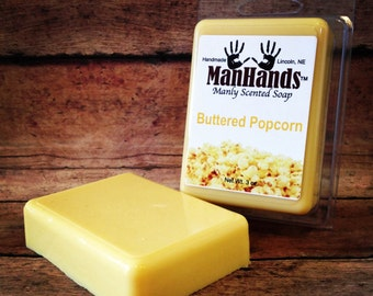 Buttered Popcorn Scented Soap 3 oz. Bar