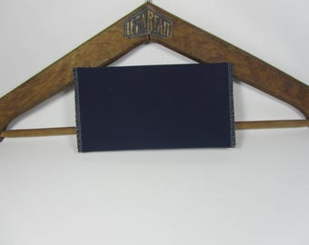 Checkbook Navy recycled, upcycling