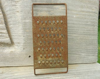 Primitive Rusty Food Cheese Grater