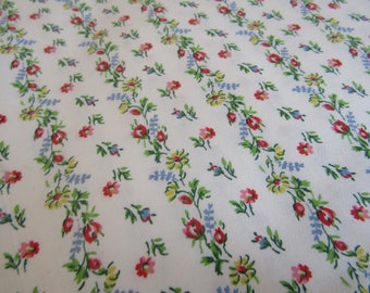 Vintage floral cotton 1 1/8 yard x 35 inches more available