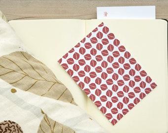 Postcard set – leaf pattern I – art print