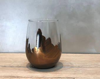 Jagged Stemless Wine glasses
