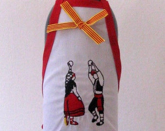 bottle apron embroidered catalans