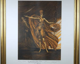 ORIGINAL ERNST FUCHS (Austrian 1930 - 2015) Color Etching and Aquatint - untitled, 1980