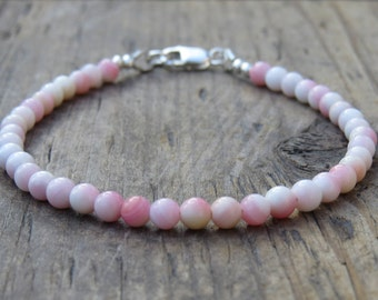 Blush Pink Queen Conch Shell Bracelet