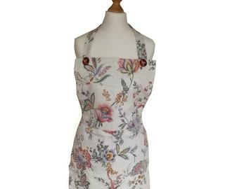 Apron made with vintage floral fabric, size 10/12