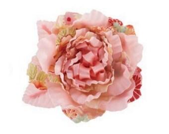 Japanese flower silk pink orange
