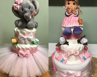 Girls Diaper Cakes