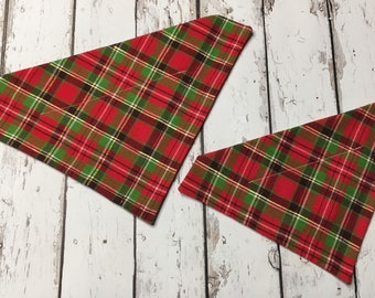 Plaid Christmas Dog Bandana