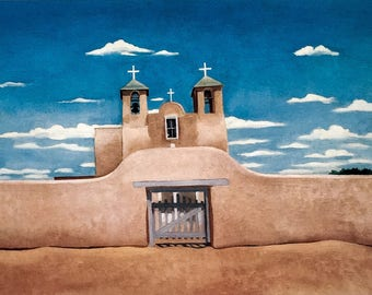 Georgia O'Keeffe / Front of Ranchos Church / 1929 / Art / Book Page Print / Published 1990's