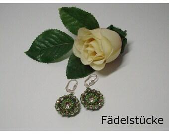 Festive Earrings with glitter handmade