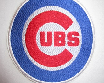 Embroidered Cubs iron On Applique Patch, Chicago Cubs, Sports Logo, Sports