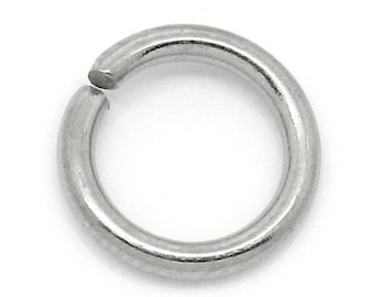 500pcs 7mm Stainless Steel Jump Ring - 16 Gauge - Wholesale Jewelry Finding, Stainless Supplies, Stainless Jump Ring Ships from USA - JR83-2