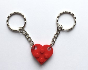 LEGO® Heart Couples Keyring - Perfect Valentines Gift UK Free Postage