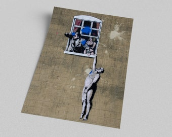 ACEO Banksy Naked Man Graffiti Street Art Canvas Giclee Print