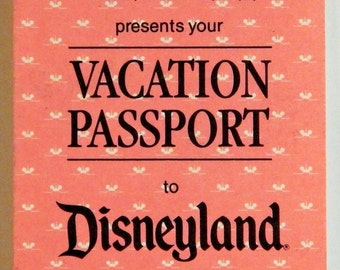 DISNEYLAND Vacation Passport 1990; Replaced the old ticket system by wearing this you could go on any ride and show as much as you wanted