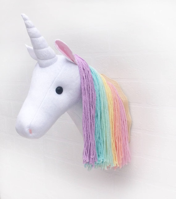 Beautiful Unicorn head faux taxidermy unicorn head decor faux taxidermy BV21