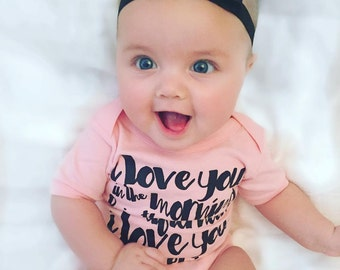 I Love You in the Morning and in the Afternoon Baby Bodysuit  - Available in various colors and Sizes