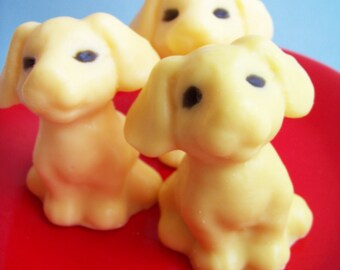 Dog Soap - Puppy Soap, Pet Soap, Cherry Soap, Kids Soap, Party Favors, Teen Gift, Novelty Soap, Dog Shaped Soap, Animal Soap, Handmade