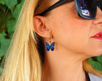 Butterflies Earrings, Butterfly Jewellery, Butterfly Jewelry, Gifts for her, Shrink Jewelry,Insect Jewelry, Bug, Colourfull Butterflies