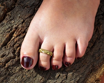 Band Toe Ring, Gold Toe Ring, Boho Toe Ring, Wire Toe Ring, Toe Ring Gold, Brass Toe Ring, Foot Ring, Ring for Toe, Summer Jewelry, Toe Ring