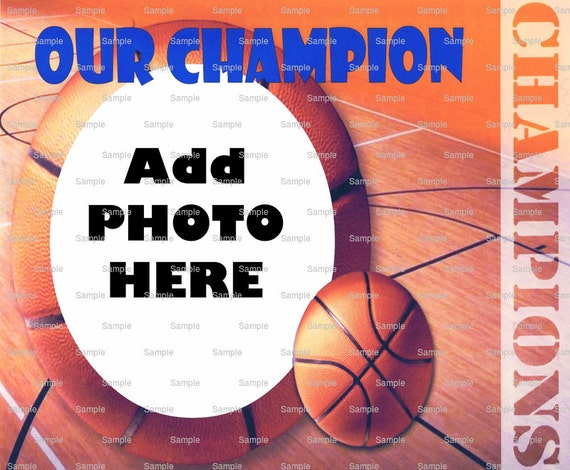 Basketball Birthday - Edible Cake and Cupcake Photo Frame For Birthdays and Parties! - D4394