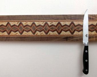 Magnetic Knife Rack, Wooden Knife Organizer, Magnetic Knife Holder, Wall Mounted Knife Holder, Kitchen Accessory, Handmade long#4